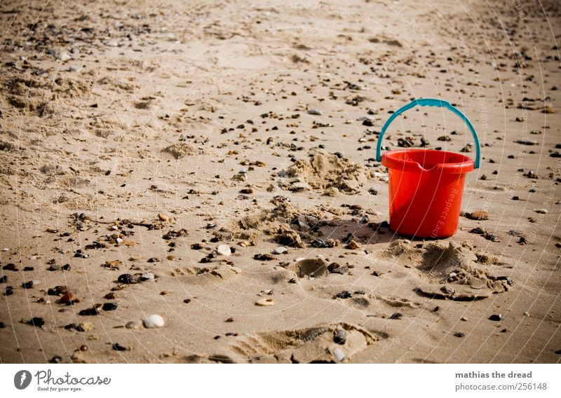 DÄNEMARK - XL Natur Wasser rot Sommer Strand Einsamkeit Umwelt Landschaft Sand Stein Nordsee Spielzeug Kleinkind Schönes Wetter feucht bewegungslos