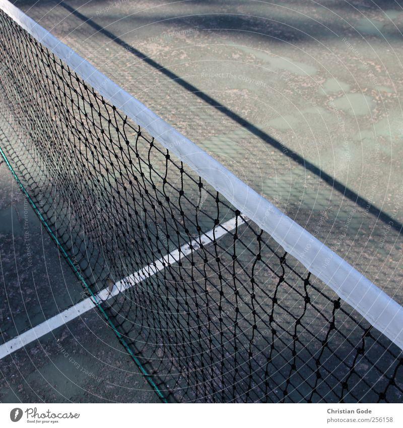 T-Linie Freizeit & Hobby Spielen Ferien & Urlaub & Reisen Sport Ballsport Sportstätten Sportveranstaltung grün Tennis Tennisnetz Tennisturnier Netz diagonal
