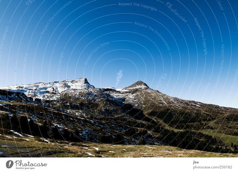 Laubernhornrücken harmonisch Tourismus Ausflug Schnee Berge u. Gebirge wandern Skigebiet Natur Landschaft Wolkenloser Himmel Herbst Schönes Wetter Tanne Wiese