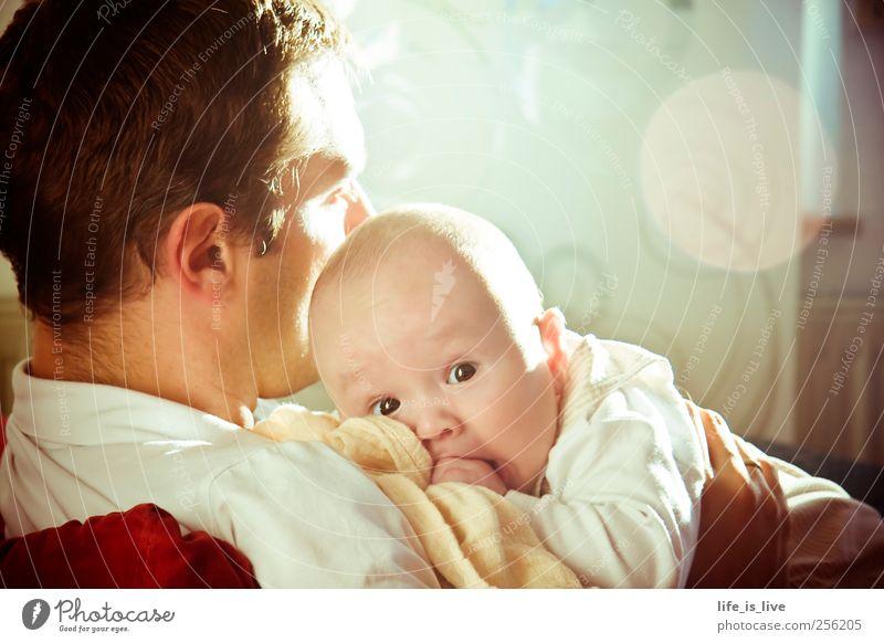 chillen mit papa ll Mensch Mann ruhig Erwachsene Erholung Kopf Glück Stimmung Familie & Verwandtschaft Kindheit Zufriedenheit Baby maskulin Sicherheit