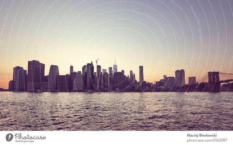Himmel Ferien & Urlaub & Reisen Einsamkeit Gebäude Business Hochhaus elegant USA Brücke Fluss Sehenswürdigkeit Wahrzeichen Skyline Städtereise Stadtzentrum