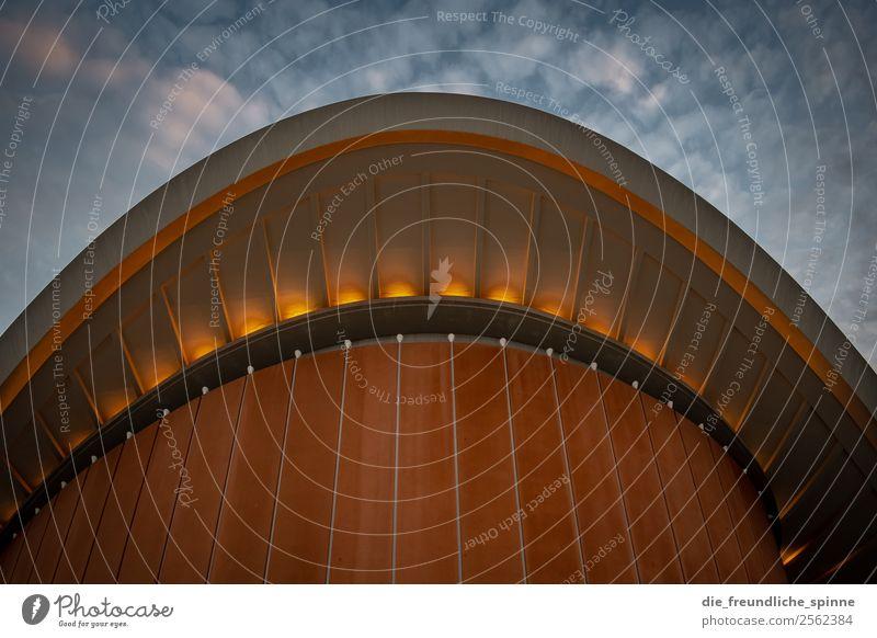 Die Schwangere Auster Kunst Architektur Wolken Sommer Wetter Berlin Deutschland Europa Stadt Hauptstadt Stadtzentrum Bauwerk Gebäude Kongressgebäude