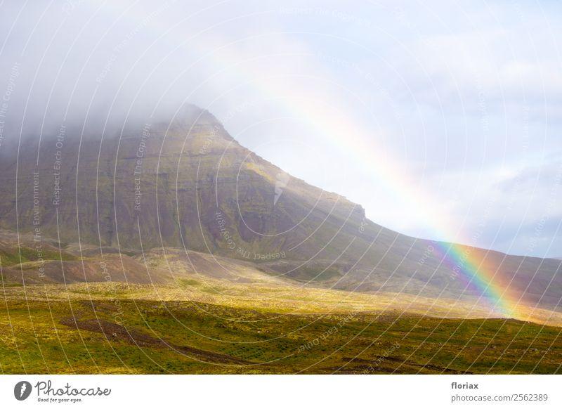 Regenbogen auf Island IV / IV Umwelt Natur Landschaft Urelemente Luft Wasser Klima Schönes Wetter Berge u. Gebirge Europa leuchten ästhetisch außergewöhnlich