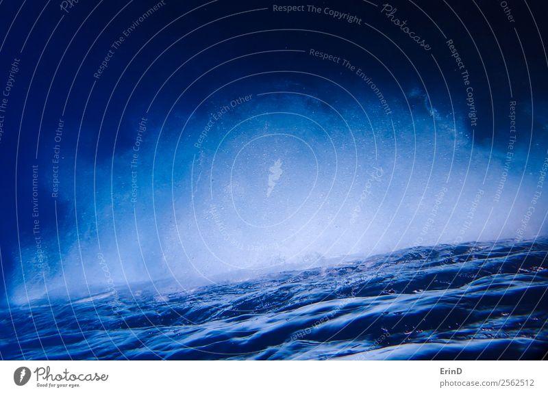 Natur Ferien & Urlaub & Reisen blau weiß Meer ruhig nass tauchen Oberfläche Brandung Luftblase Hawaii Pazifik sprudelnd Rippeln