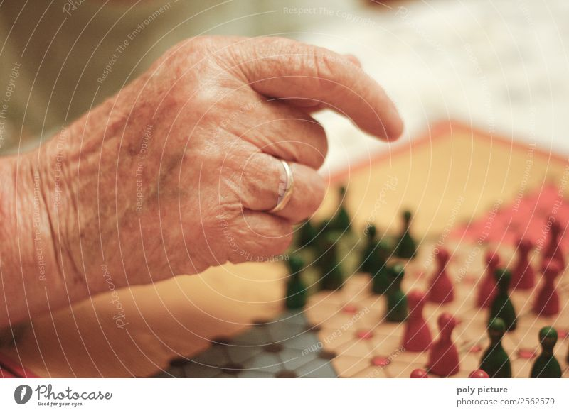 Hand einer Oma Frau Mann alt Freude Erwachsene Leben Senior Glück Spielen Zufriedenheit 60 und älter Erfolg Zukunft einzigartig Hilfsbereitschaft