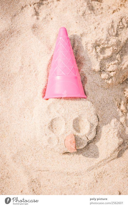 Witziges Gesicht aus Sand Glück Freizeit & Hobby Spielen Ferien & Urlaub & Reisen Tourismus Ausflug Freiheit Sommer Sommerurlaub Sonnenbad Frühling Herbst Küste