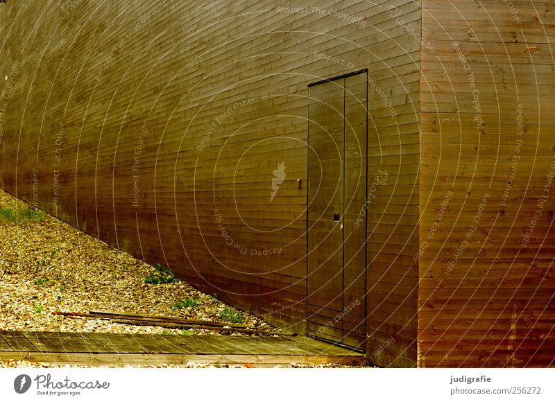 Hannover Haus Bauwerk Gebäude Architektur Fassade Tür Holz Stadt braun ästhetisch Perspektive Farbfoto Gedeckte Farben Außenaufnahme Menschenleer