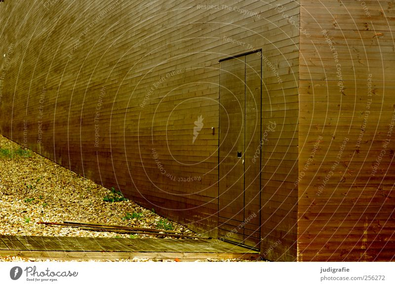 Hannover Stadt Haus Architektur Holz Gebäude braun Tür Fassade ästhetisch Perspektive Bauwerk