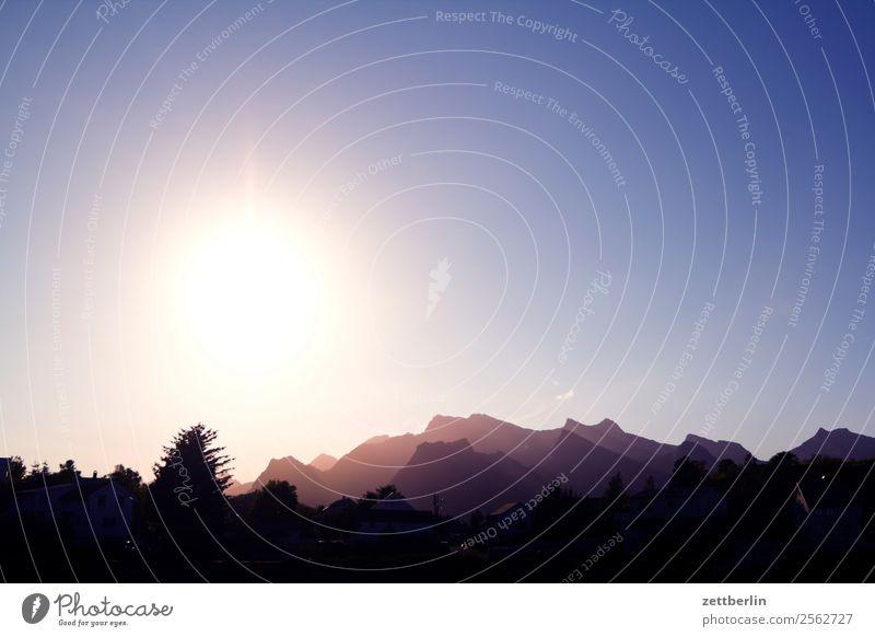 Sonne Polarmeer Europa Felsen Ferien & Urlaub & Reisen Himmel Himmel (Jenseits) Landschaft Lofoten maritim Natur nordisch Norwegen Reisefotografie Skandinavien