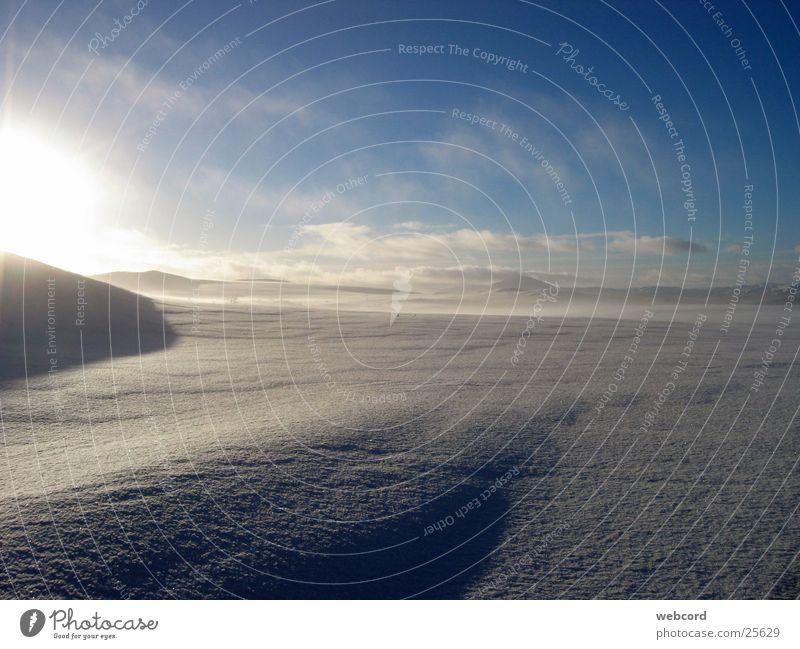 Schneelandschaft 1330 Winter Ferien & Urlaub & Reisen Schnee Berge u. Gebirge Norwegen Skitour Hardangervidda Süd-Norwegen