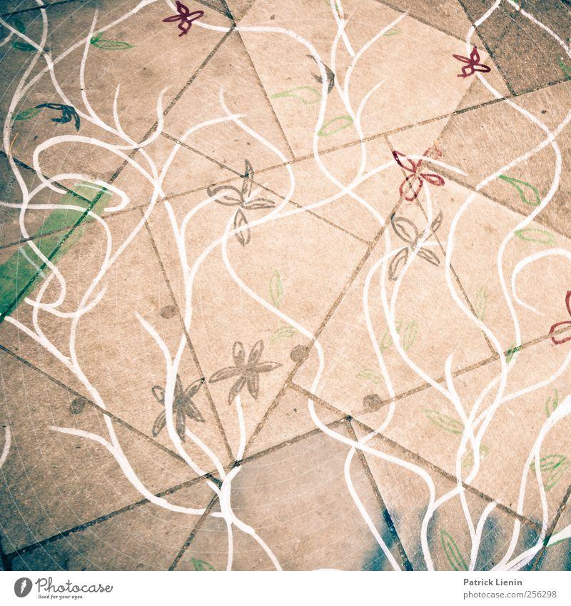 simple schön Blume Straße Wege & Pfade Linie Kunst wild authentisch Bodenbelag einzigartig weich Gemälde nachhaltig gezeichnet