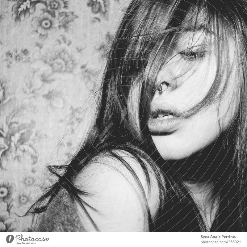 900!!!! feminin Mund Lippen Schmollmund 1 Mensch 18-30 Jahre Jugendliche Erwachsene Haare & Frisuren langhaarig Coolness rebellisch verrückt wild
