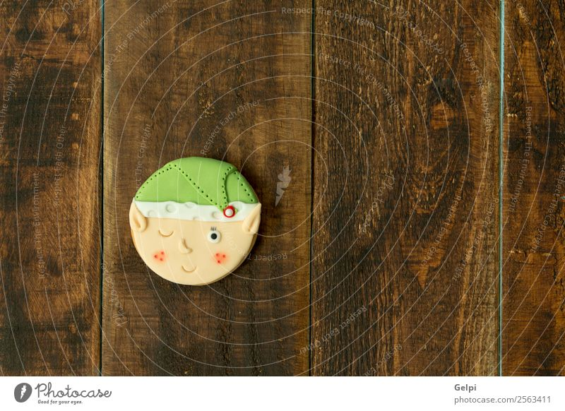 Leckere Weihnachtskekse Dessert Kräuter & Gewürze Dekoration & Verzierung Tisch Feste & Feiern Weihnachten & Advent Kind Holz Ornament lecker braun grün