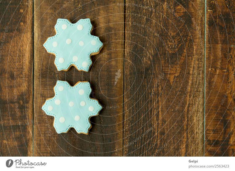 Leckere Weihnachtskekse Dessert Kräuter & Gewürze Winter Dekoration & Verzierung Tisch Feste & Feiern Weihnachten & Advent Holz Ornament lecker blau braun