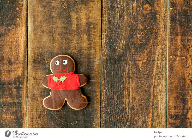 Leckere Weihnachtskekse Dessert Kräuter & Gewürze Winter Dekoration & Verzierung Tisch Feste & Feiern Weihnachten & Advent Puppe Holz Ornament lecker braun rot