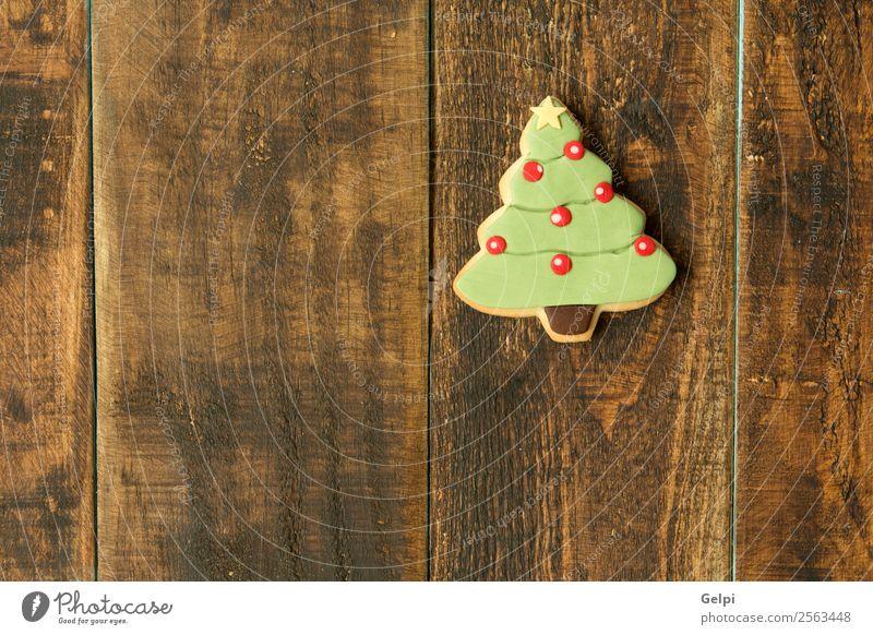 Leckere Weihnachtskekse Dessert Kräuter & Gewürze Winter Dekoration & Verzierung Tisch Feste & Feiern Weihnachten & Advent Baum Holz Ornament lecker braun grün