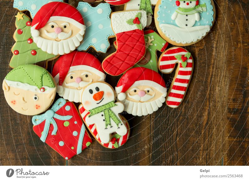 Leckere Weihnachtskekse Dessert Winter Dekoration & Verzierung Tisch Feste & Feiern Weihnachten & Advent Silvester u. Neujahr Baum Holz Ornament lecker braun