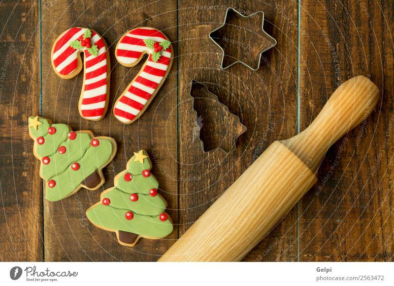Weihnachten & Advent Baum Winter Holz Feste & Feiern braun Dekoration & Verzierung Tisch Kräuter & Gewürze lecker Jahreszeiten Tradition Dessert Backwaren