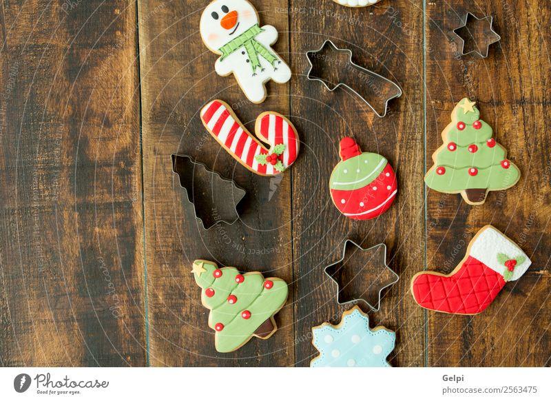 Leckere Weihnachtskekse Dessert Kräuter & Gewürze Winter Dekoration & Verzierung Tisch Feste & Feiern Weihnachten & Advent Baum Holz Ornament lecker braun