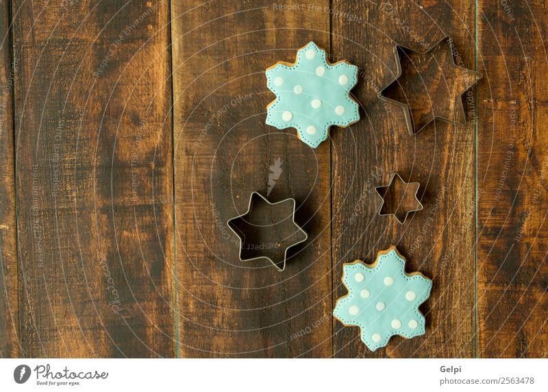 Weihnachten & Advent blau Winter Holz Feste & Feiern braun Dekoration & Verzierung Tisch Kräuter & Gewürze lecker Jahreszeiten Tradition Dessert Backwaren