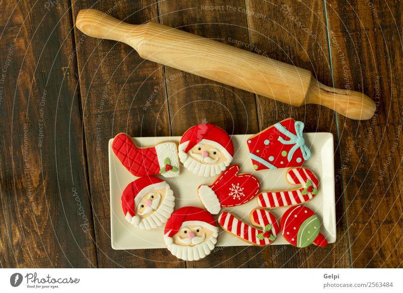 Leckere Weihnachtskekse Dessert Kräuter & Gewürze Winter Dekoration & Verzierung Tisch Feste & Feiern Weihnachten & Advent Silvester u. Neujahr Holz Ornament