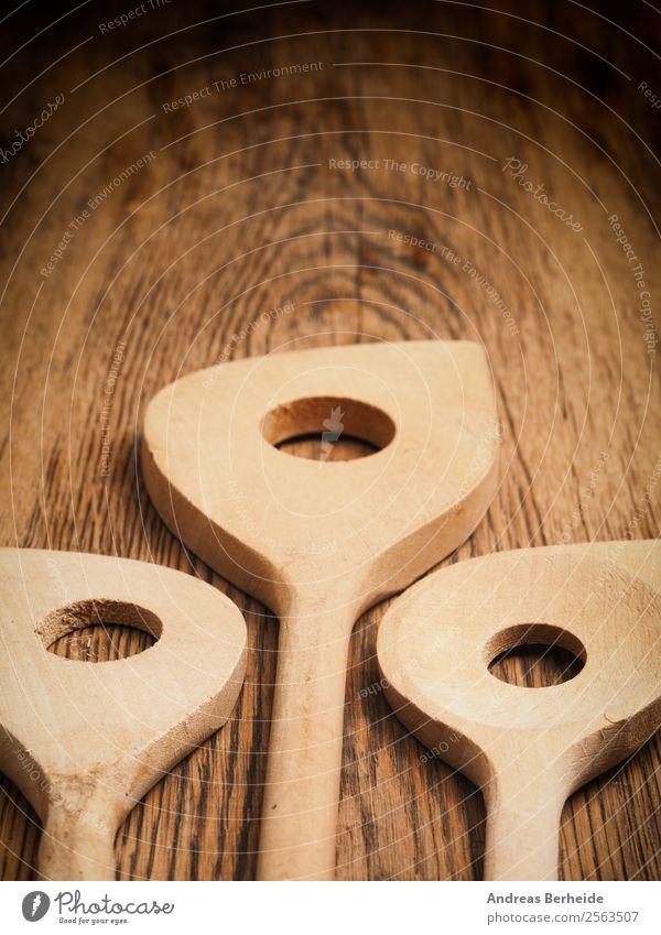 Aus Bestem Holz ! Weihnachten & Advent Hintergrundbild Stil retro Tisch Küche altehrwürdig Top Gerät Löffel Besteck Kochlöffel
