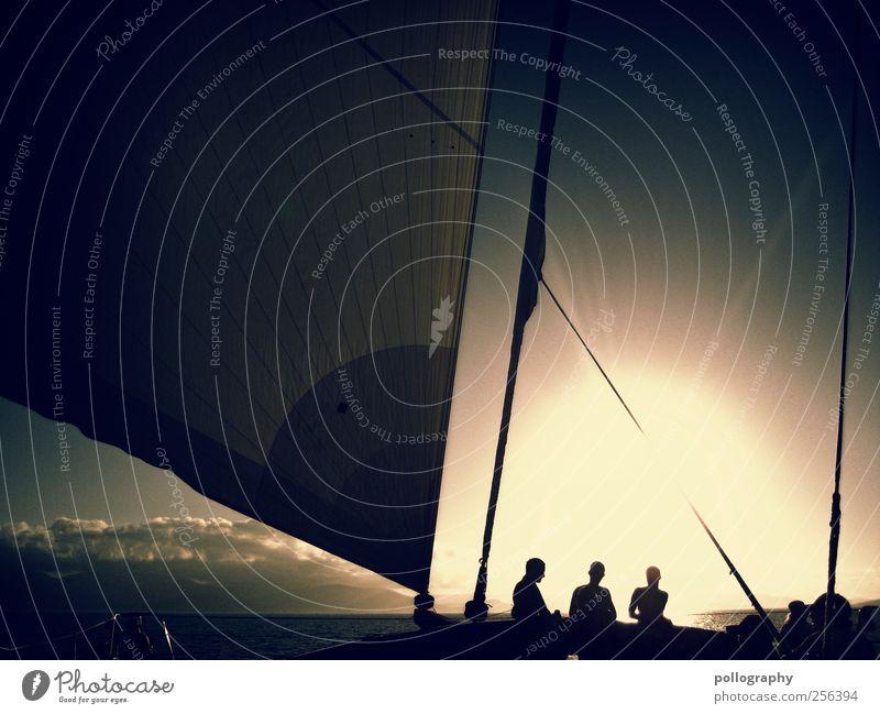 Das Flüstern des Windes Mensch Himmel Ferien & Urlaub & Reisen Sonne Meer Sommer Freude Wolken Ferne Erholung Freiheit Freundschaft Wasserfahrzeug Freizeit & Hobby Ausflug Abenteuer