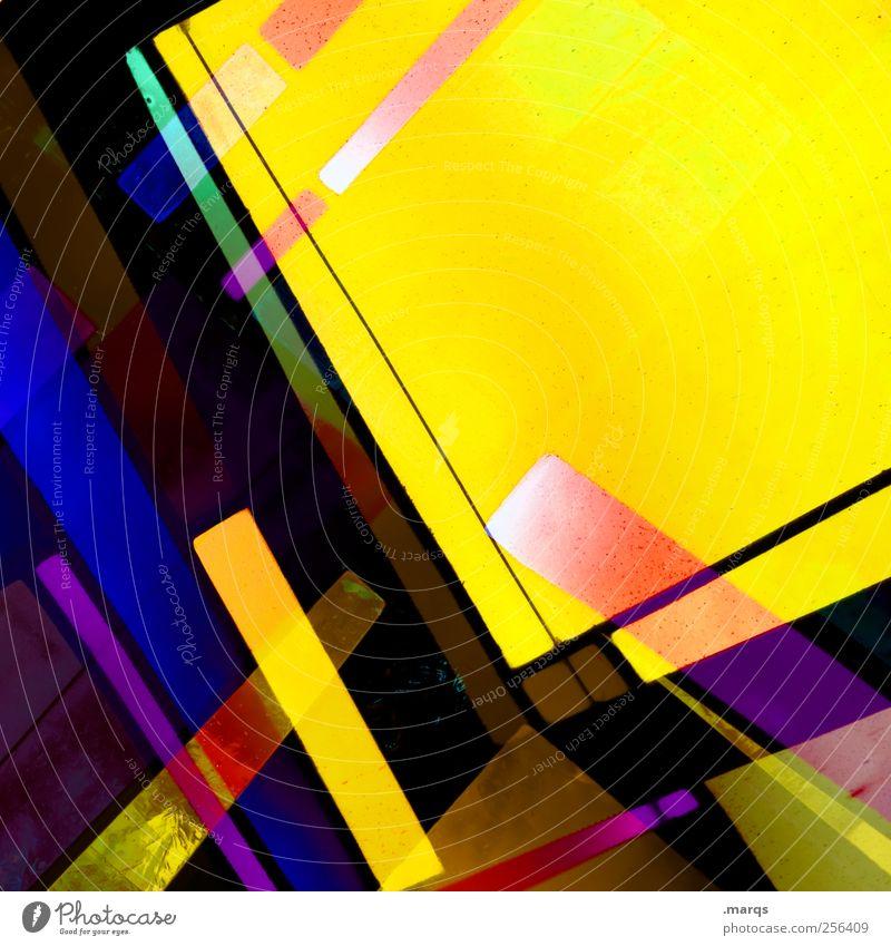 Yello Farbe gelb Stil Linie Kunst Glas Hintergrundbild Design modern außergewöhnlich Lifestyle Coolness leuchten Dekoration & Verzierung einzigartig
