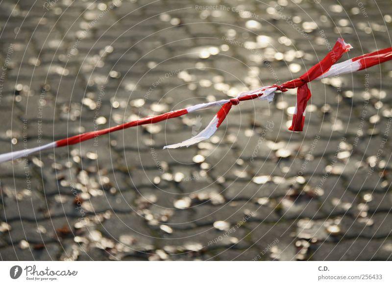 50!!! weiß rot Blatt Stein gold geschlossen Schilder & Markierungen Kunststoff Schnur Barriere Knoten