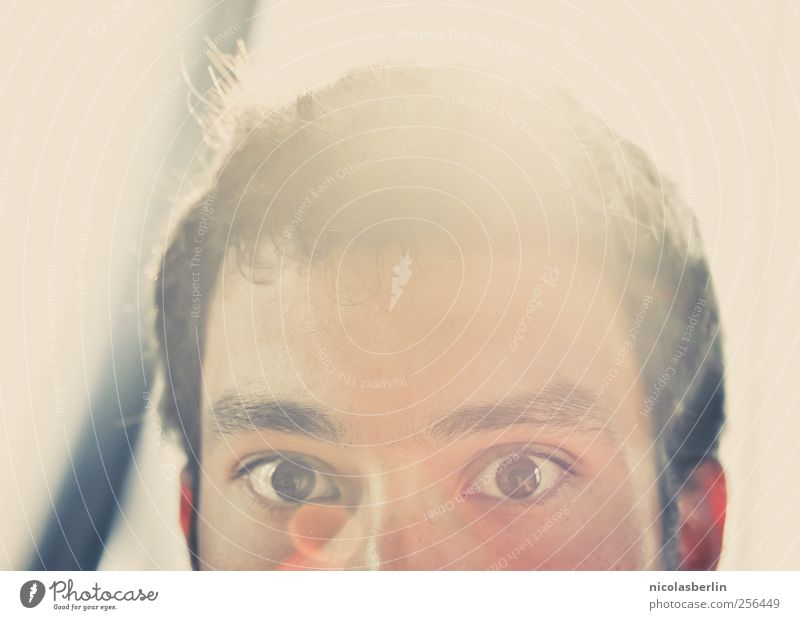 With You On My Mind Stil schön Haare & Frisuren Gesicht maskulin Junger Mann Jugendliche Auge 1 Mensch 18-30 Jahre Erwachsene Denken genießen leuchten glänzend