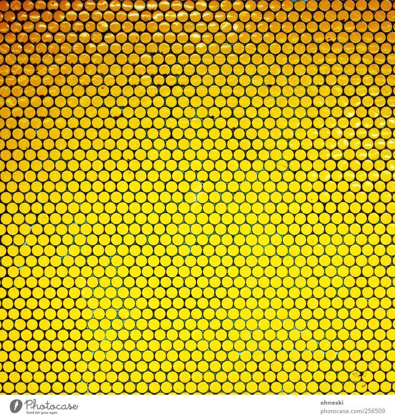Kleine Kreise Menschenleer Bauwerk Mauer Wand Fliesen u. Kacheln Mosaik viele gelb gold grell Punkt Farbfoto Innenaufnahme abstrakt Muster Strukturen & Formen