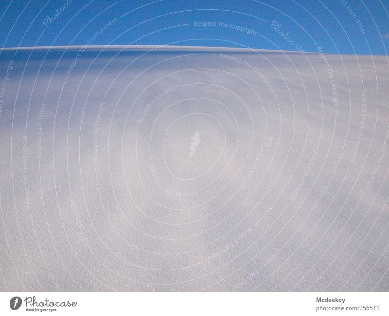 Weiße Dünen Himmel Natur Wasser blau weiß schön Winter Ferne Wiese kalt Schnee Umwelt Landschaft grau hell Eis