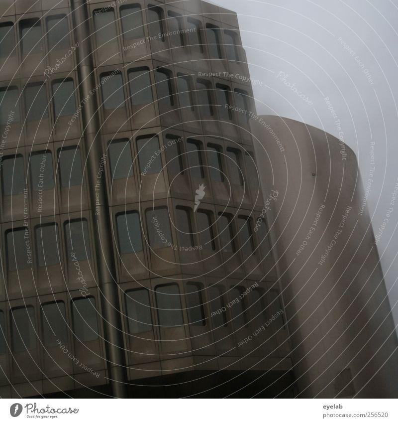 Gräulich Umwelt Wassertropfen Himmel Wolken Klima Wetter schlechtes Wetter Unwetter Regen Stadt Hauptstadt Stadtzentrum Skyline Haus Hochhaus Bankgebäude
