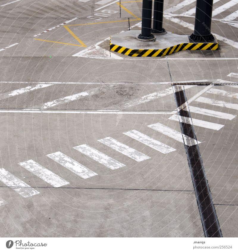 BUS Straße Wege & Pfade Linie Schilder & Markierungen Verkehr planen Perspektive Streifen Güterverkehr & Logistik Zeichen Verkehrswege Flughafen Mobilität Flugplatz Zebrastreifen