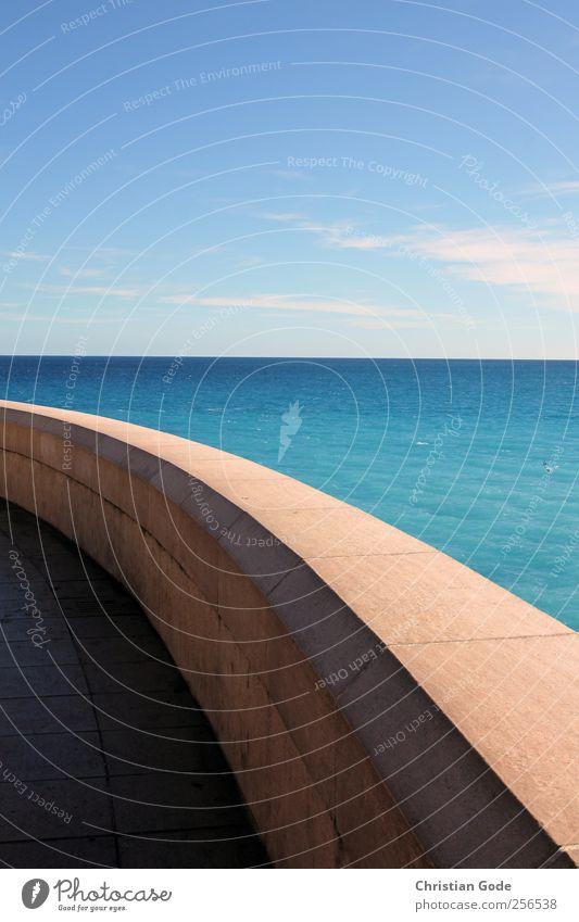 Nice Nizza Himmel Natur Wasser blau Sonne Ferien & Urlaub & Reisen Meer Sommer Strand Wolken ruhig Ferne Erholung Umwelt Landschaft Freiheit