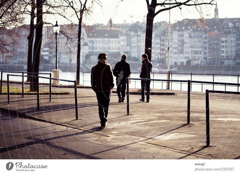 men maskulin Mann Erwachsene Vater Geschwister Bruder 3 Mensch Coolness Generation Winter Allee Fußgänger Freizeit & Hobby gehen Spaziergang Farbfoto