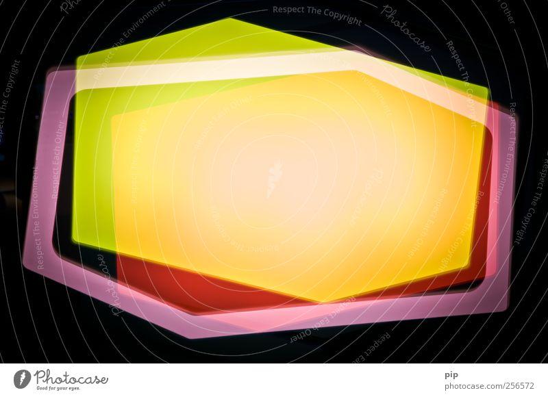 hexagon 2 Leuchtkasten leuchten mehrfarbig gelb grün rosa rot schwarz bizarr Lichteffekt Sechseck polygon Doppelbelichtung Farbenspiel Reaktionen u. Effekte