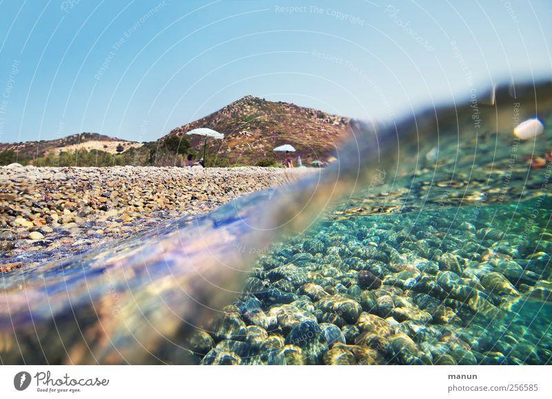 Urlaubswelle Himmel Natur Wasser Ferien & Urlaub & Reisen Meer Sommer Strand Landschaft Küste Wellen natürlich authentisch Sommerurlaub Fernweh Meeresboden Meeresspiegel
