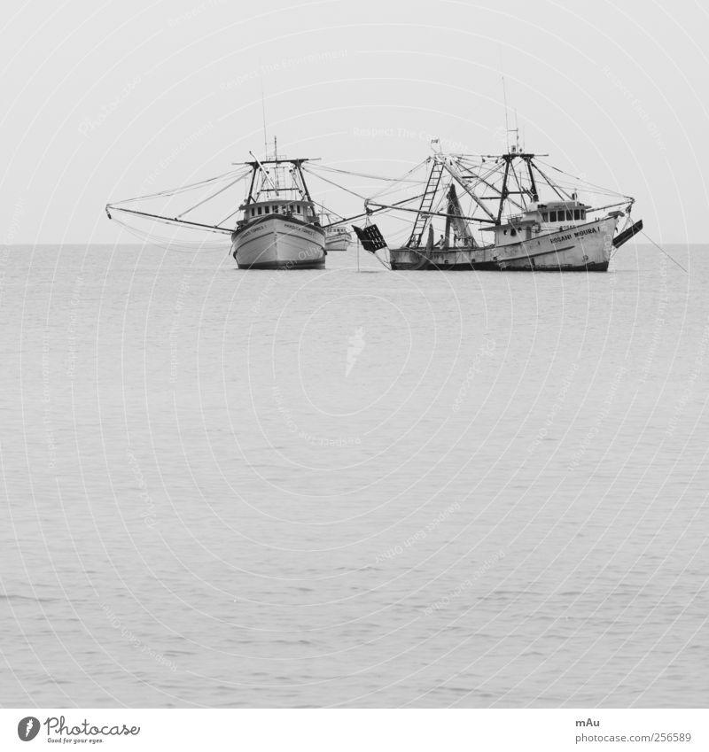 Ausgefischt Fischerboot fangen Jagd Brasilien Angeln Netz Schwarzweißfoto Außenaufnahme Menschenleer Tag Kontrast