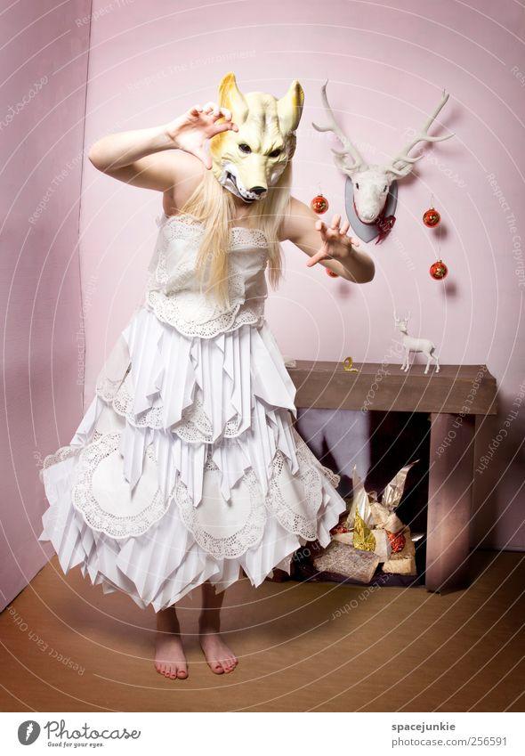 Wolfsfest Frau Mensch Weihnachten & Advent schön Erwachsene feminin Stimmung rosa elegant verrückt außergewöhnlich einzigartig Maske 18-30 Jahre gruselig