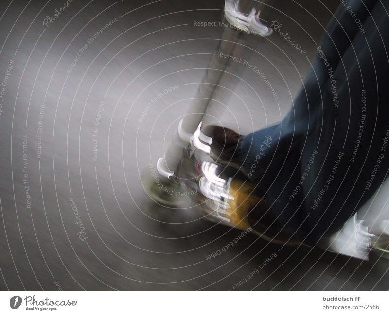 Kickboard Unschärfe Mensch Geschwindigkeit Lomografie Tretroller