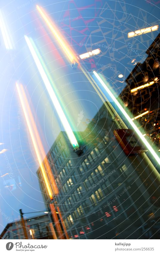 lightbox Lifestyle Stil Technik & Technologie leuchten Neonlicht Reflexion & Spiegelung Schaufenster Bürogebäude Dekoration & Verzierung Zukunft aufwärts