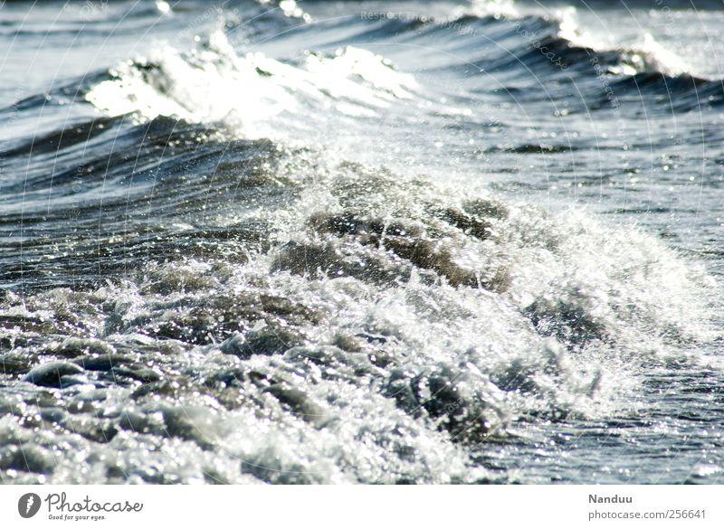 Urkraft Natur Wasser Meer Umwelt Wellen Urelemente Unendlichkeit Gischt Gezeiten