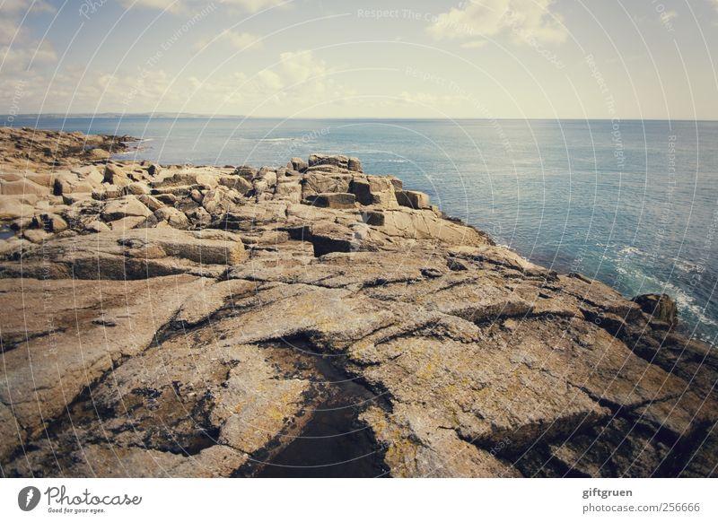 rocky coast Himmel Natur Wasser blau Meer Wolken Ferne Umwelt Landschaft grau Küste Stein Horizont Erde Felsen Insel