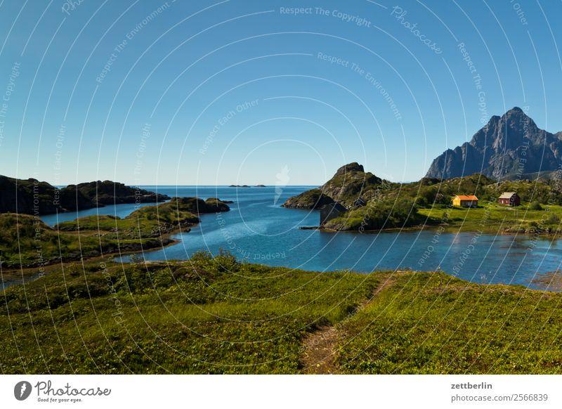 Vågakallen Himmel Natur Ferien & Urlaub & Reisen Himmel (Jenseits) Wasser Landschaft Meer Wolken Reisefotografie Textfreiraum Felsen Horizont Europa Insel