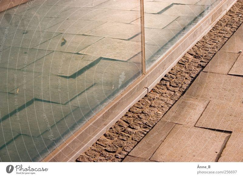 _/¯\_/¯\_/¯\_ blau Stein Linie gold Glas glänzend Fassade Perspektive fest Richtung Bodenplatten verjüngen