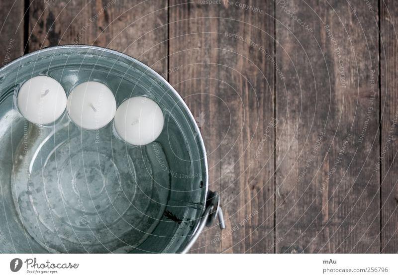 Dreierlei Kerze Schwimmen & Baden Eimer Wasser Teelicht Docht Dekoration & Verzierung Holz Schiffsplanken Strukturen & Formen Maserung Kreis rund