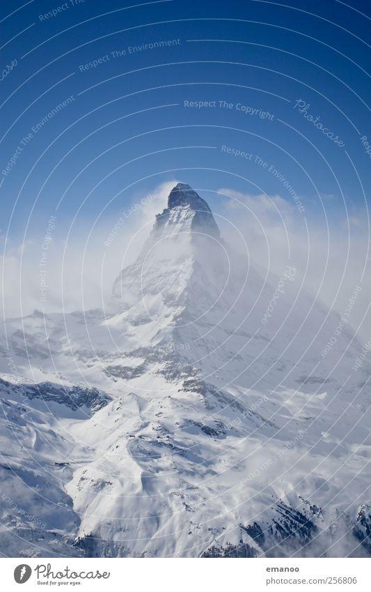 Winter am Horn Himmel Natur Ferien & Urlaub & Reisen blau Landschaft Wolken Berge u. Gebirge Schnee Tourismus Wetter Nebel Eis hoch Spitze Klima