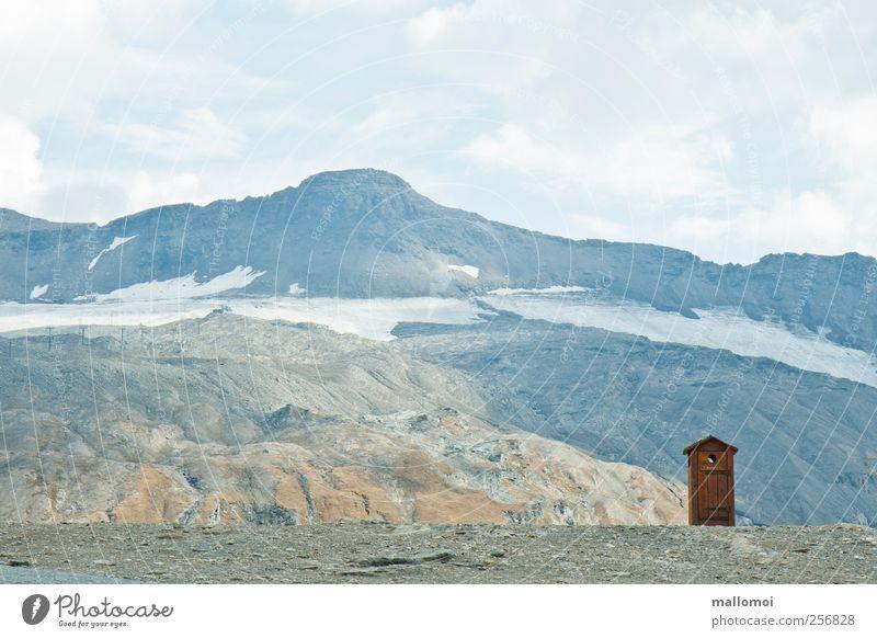 Stilles Örtchen Himmel Natur blau Ferien & Urlaub & Reisen Sommer ruhig Einsamkeit Schnee Umwelt Landschaft Berge u. Gebirge Wege & Pfade Eis Felsen Abenteuer