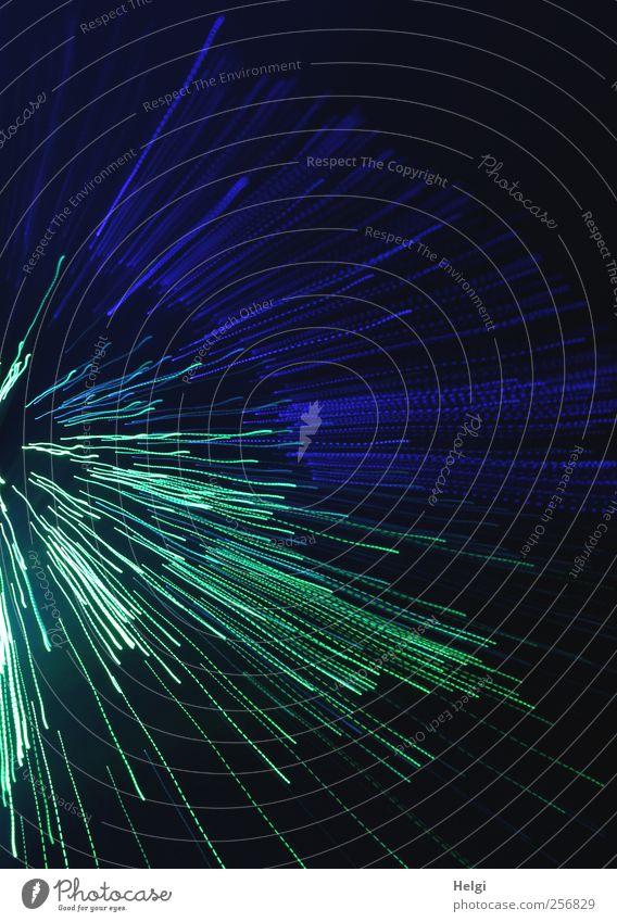Splash... blau grün schön Freude schwarz dunkel Bewegung Linie Kunst ästhetisch Fröhlichkeit Geschwindigkeit außergewöhnlich leuchten Streifen einzigartig